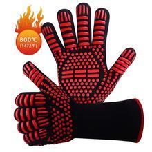 Кухонные утолщенные противоскользящие перчатки для выпечки духовки термостойкие моющиеся перчатки для гриля прочный для барбекю инструмент для барбекю