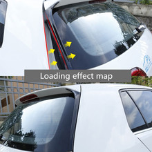 Carbon Fiber Rear Window Side Spoiler Wing For VW GOLF 7 MK7 GTD R 2014-2018 Car-styling Auto Accessories high quality abs for volkswagen vw golf 7 r r line gtd gti spoiler 2014 2015 2016 2017 rear window roof spoiler vw golf spoiler
