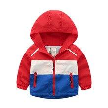 Весенне-осенняя куртка для мальчиков; детская флисовая ветровка на молнии с длинными рукавами; Повседневная водонепроницаемая Спортивная одежда для малышей