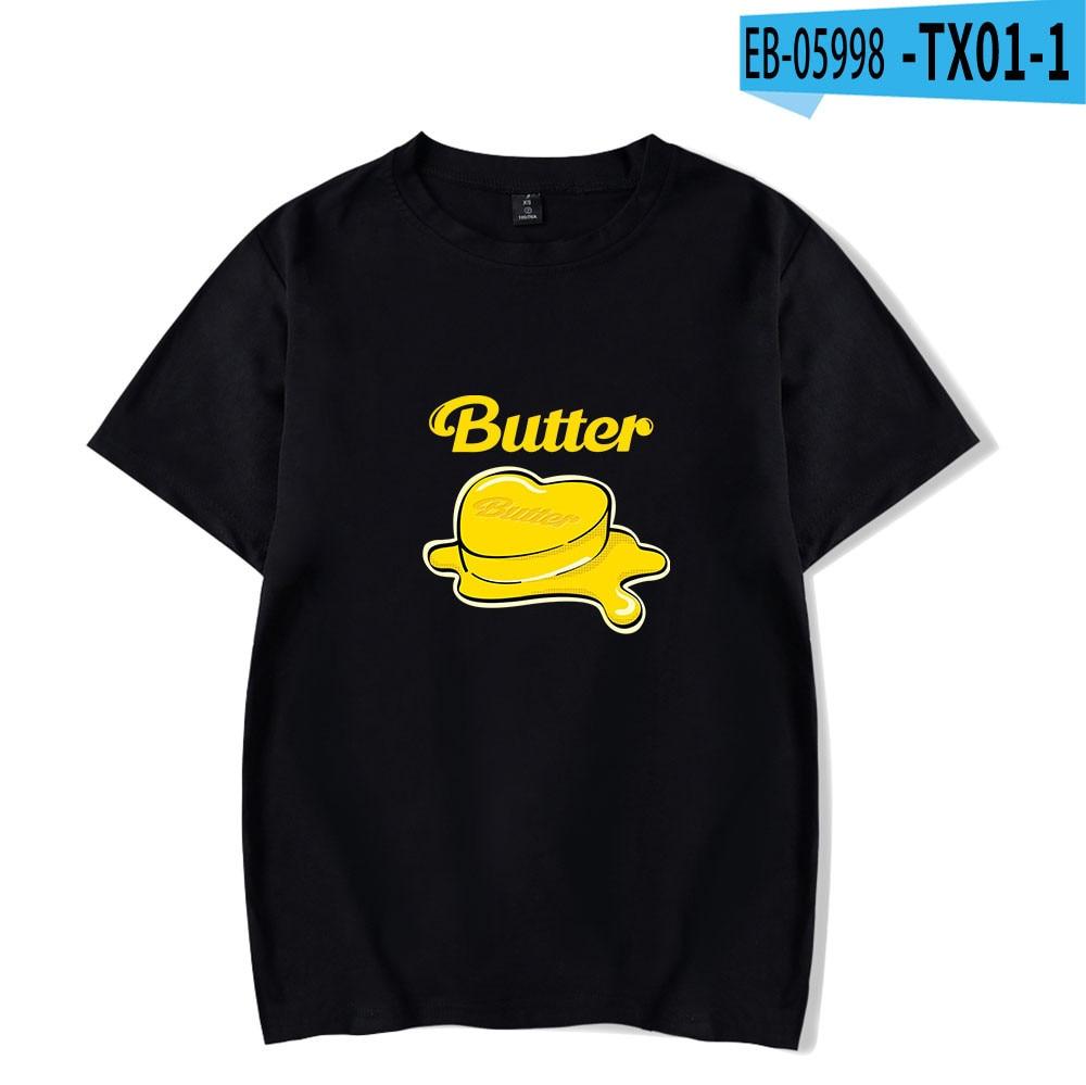 2021New album BTS Butter T Shirt Men Short Sleeve Women  Unisex Harajuku boy/girls tops cute Oversized clothes