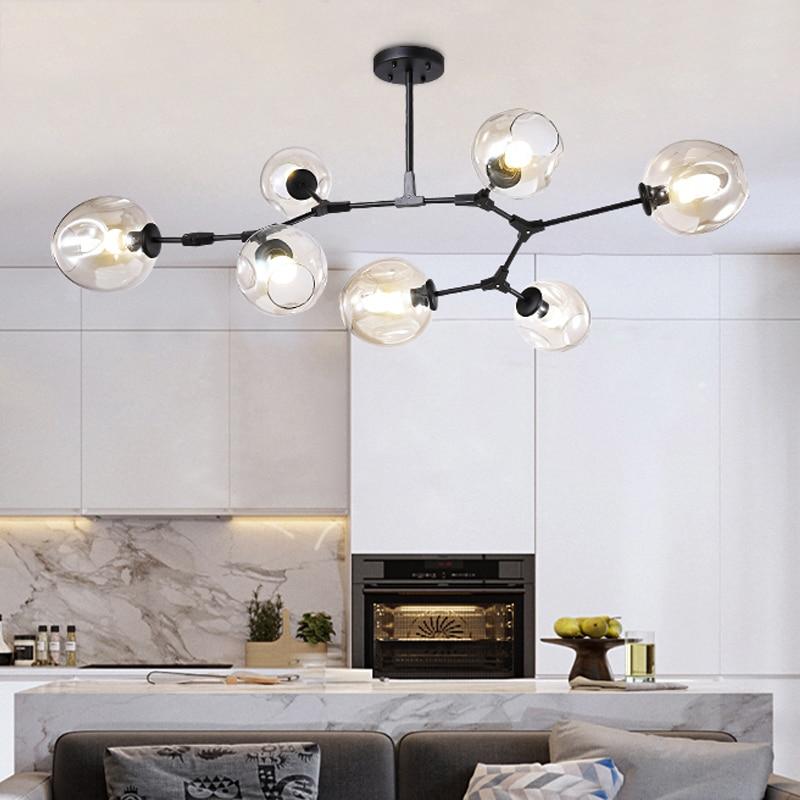 cheapest Modern Led Chandelier For Living room Bedroom Dining room Luminaires Ceiling Chandelier Lighting Black amp White Luminaire 110V 220V