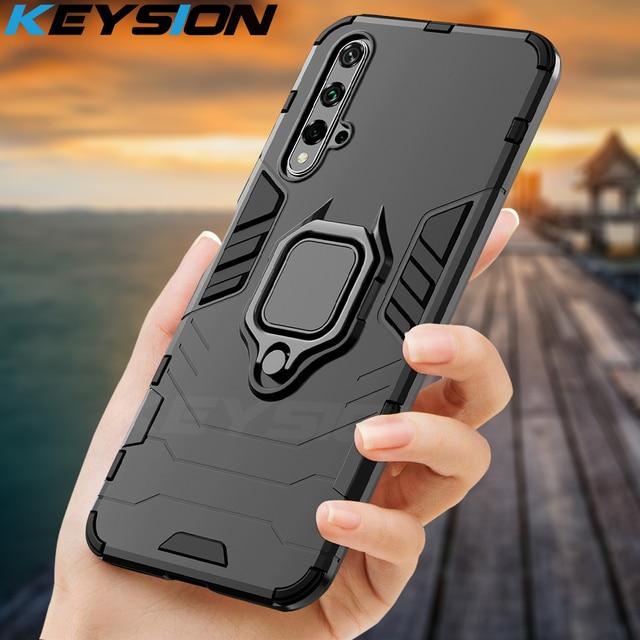 KEYSION Antiurto Armatura di Caso Per Huawei Mate 30 20 Pro P30 P20 lite P Smart Y5 Y6 Y7 Y9 2019 copertura del telefono per Honor 20 Pro 10i 10 lite 8a 8X 9X 1
