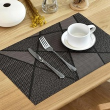 6Pcs Europe Style Placemat Waterproof Decoration Mat Heat-Resistant Table Mat Dishes