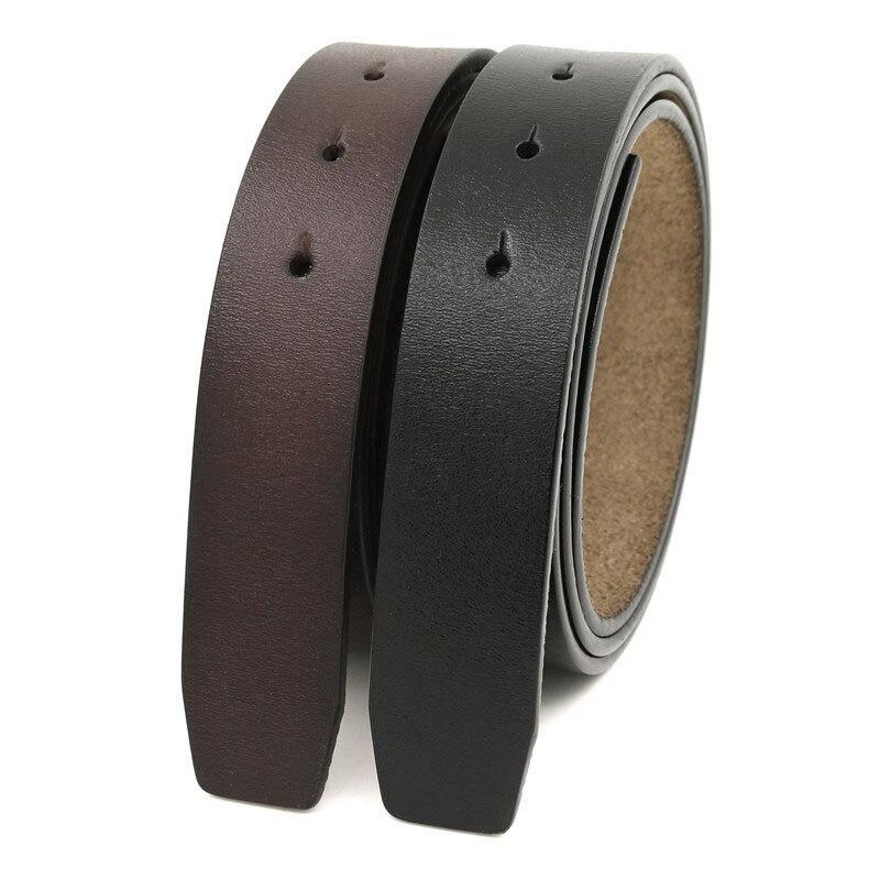 LannyQveen 3,3 correa de cuero de vaca pura 100% cm sin hebilla cinturones de cuero genuino con agujeros de alta calidad