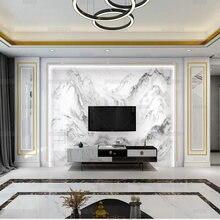 3d novo chinês tinta paisagem parede de pedra ao ar livre paisagem mármore papel tv sala estar fundo quarto