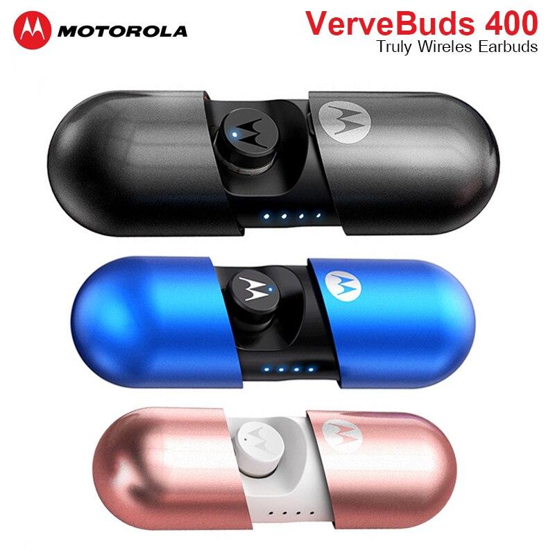 Motorola Wireless VerveBuds 400 Headset IPX6 Waterproof Bluetooth 5.0 Earphones Earbuds Separation Technology For Huawei Xiaomi