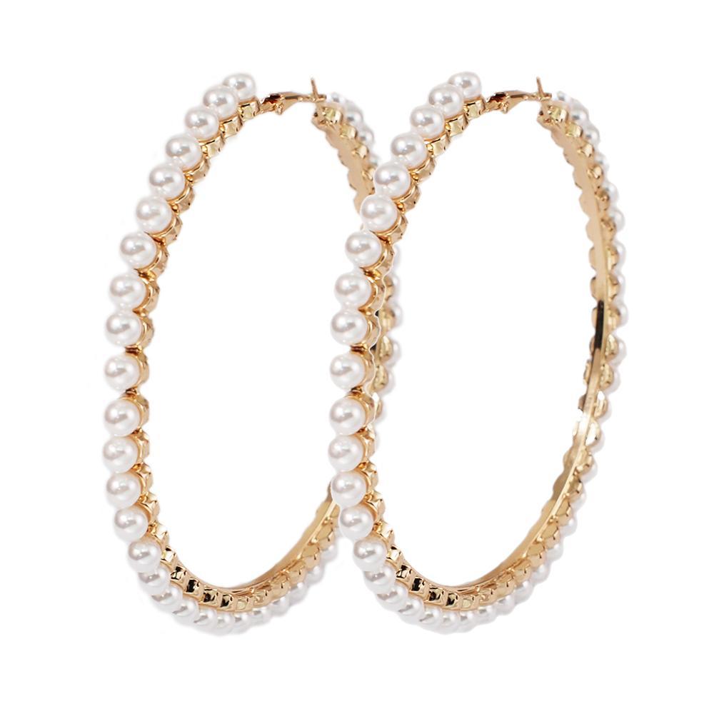 90mm Gold Earrings