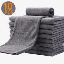 Toalla de microfibra Extra suave para lavado de coche, paño de Secado y limpieza, paño de cuidado para coche, accesorios de toalla para lavado de coche, 3/5/10 Uds.