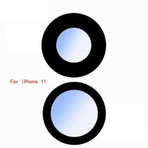 Image 4 - ZONBEMA عدسة الكاميرا الخلفية الزجاجية مع ملصق ، قطع غيار لهاتف iPhone 6 6S 7 8 11 Pro Plus X XR XS Max ، 100 قطعة