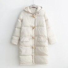 Pbg-63201, хлопковое пальто, женское платье, стиль, студенческий стиль, сплошной цвет, с капюшоном, застёжка средней длины, хлопковая стеганая одежда