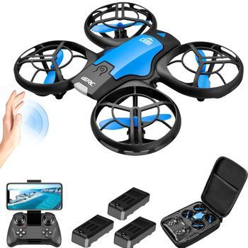 V8 nowy Mini Drone 4k zawód HD kamera szerokokątna 1080P WiFi dron fpv wysokość kamery utrzymać drony aparat zabawki-helikoptery tanie i dobre opinie XINGYUCHUANQI CN (pochodzenie) Metal Z tworzywa sztucznego 13 x 11 x 4 cm as show Mode1 Mode2 15 day silnik szczotkowy 3 7V