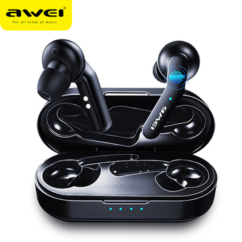 Original AWEI T10C TWS Wireless Bluetooth Earphone Headphones Tap Control Headset Handsfree True Wireless Earbuds For xiaomi