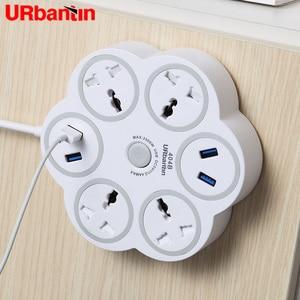 Image 1 - Urbantin Power Strip Sockel mit 4 USB Port Multifunktionale Smart Home Elektronik Universal Smart stecker EU UK AU Buchse adapter