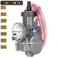 Motorrad 21 24 26 28 30 32 34mm Vergaser PWK Carburador für Off-road Motocross Roller ATV UTV YZ85 CR85 TZR250 AX100 GT750