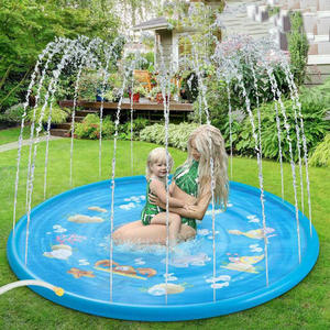 Sprinkler-Mat Pool-Playing Swimming-Pools Outdoor Kids Inflatable Water-Splash Round