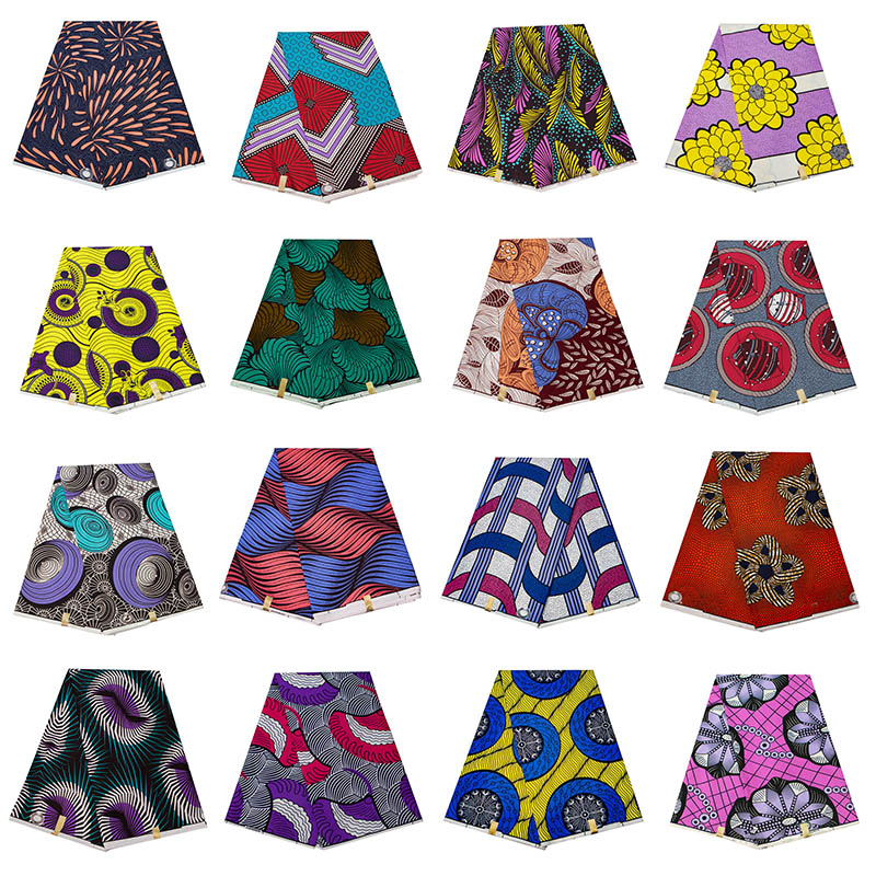 New Polyester Wax Prints Fabric 2020 Ankara Binta Real Wax High Quality 6 yards  African Fabric for Party Dress FP6271