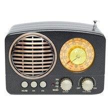 M 161BT Audio multifonction Radio TF carte fente cadeau Bluetooth haut parleur Portable maison USB Rechargeable AM FM SW Mini Durable rétro