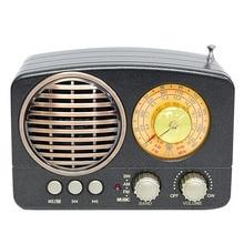 M 161BT Audio wielofunkcyjne Radio gniazdo karty TF prezent głośnik Bluetooth przenośny dom USB akumulator AM FM SW Mini trwałe Retro