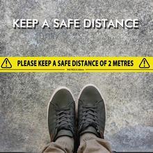 Safety Message Maintain Distance Floor Warning Tape PVC Waterproof Wear-resistant Warning Tape
