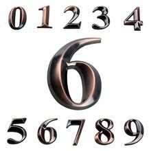 5 см Высота клейкая табличка вывеска дверные пластины номер дома наружный ABS и из металла с гальваническим покрытием номер пластины двери