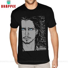 Creat 나만의 T 셔츠 Soundgarden Chris Cornell T 셔츠 tshirt Man 6XL Black Tees Shirt(China)