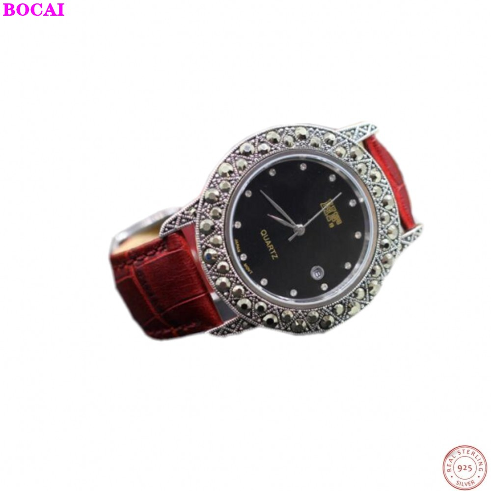 BOCAI Thai silver S925 sterling silver jewelry exquisite craft couple accessories Watch men and women's bracelets