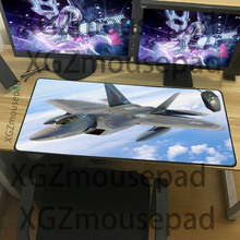XGZ Large size combat aircraft mouse pad F22 cool pattern table mat military series computer game office essential keyboard