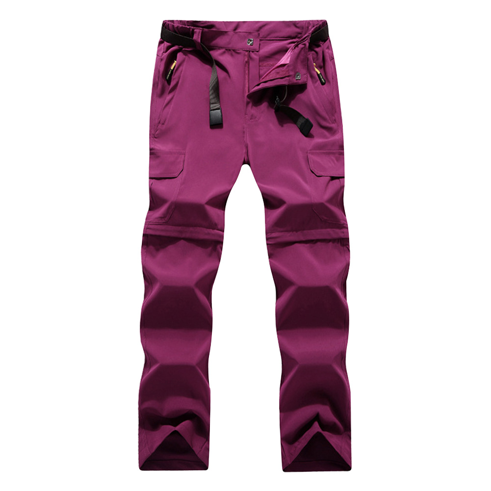 Hiking Pants Unisex Trousers Quick Dry Zip Off Summer Convertible Walking Fishing Outdoor Climbing Detachable Water Resistant