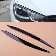 CITALL 2 шт. черная фара для бровей и век накладка отделка украшение подходит для VW Golf 7 VII GTI GTD GTE R MK7