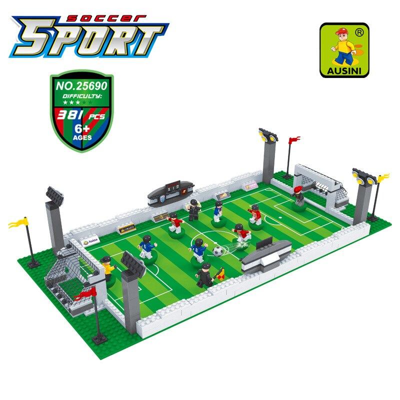 Building Constrution Toy AUSINI 25690 Model building kits city football 3D blocks Educational building toys hobbies for children