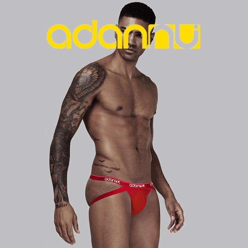 New ADANNU Sexy Men Jockstrap Men Underwear Cotton Male Panties Men Thong G-String Cueca Breathable Penis Pouch Gay Underwear