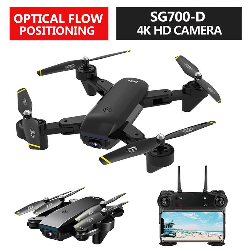 VODOOL SG700-D Wi-fi FPV RC Drone Com 4K 1080P 720P Câmera Dupla Óptica de Fluxo Aéreo em Tempo Real vídeo RC Quadcopter Dron Dobrável