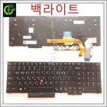 Coreano Retroiluminado teclado para Lenovo thinkpad E580 L580 L590 P52 P72 E590 E585 E595 T590 T15 P53S 01YP680 01YP640 CORÉIA KR KOR