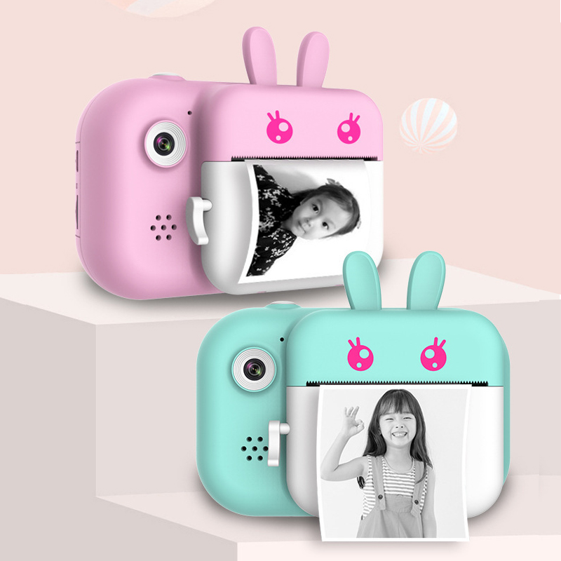Kids Camera Instant-Printer Eye-Protection Digital Children Mini 24MP 1080P HD with IPS