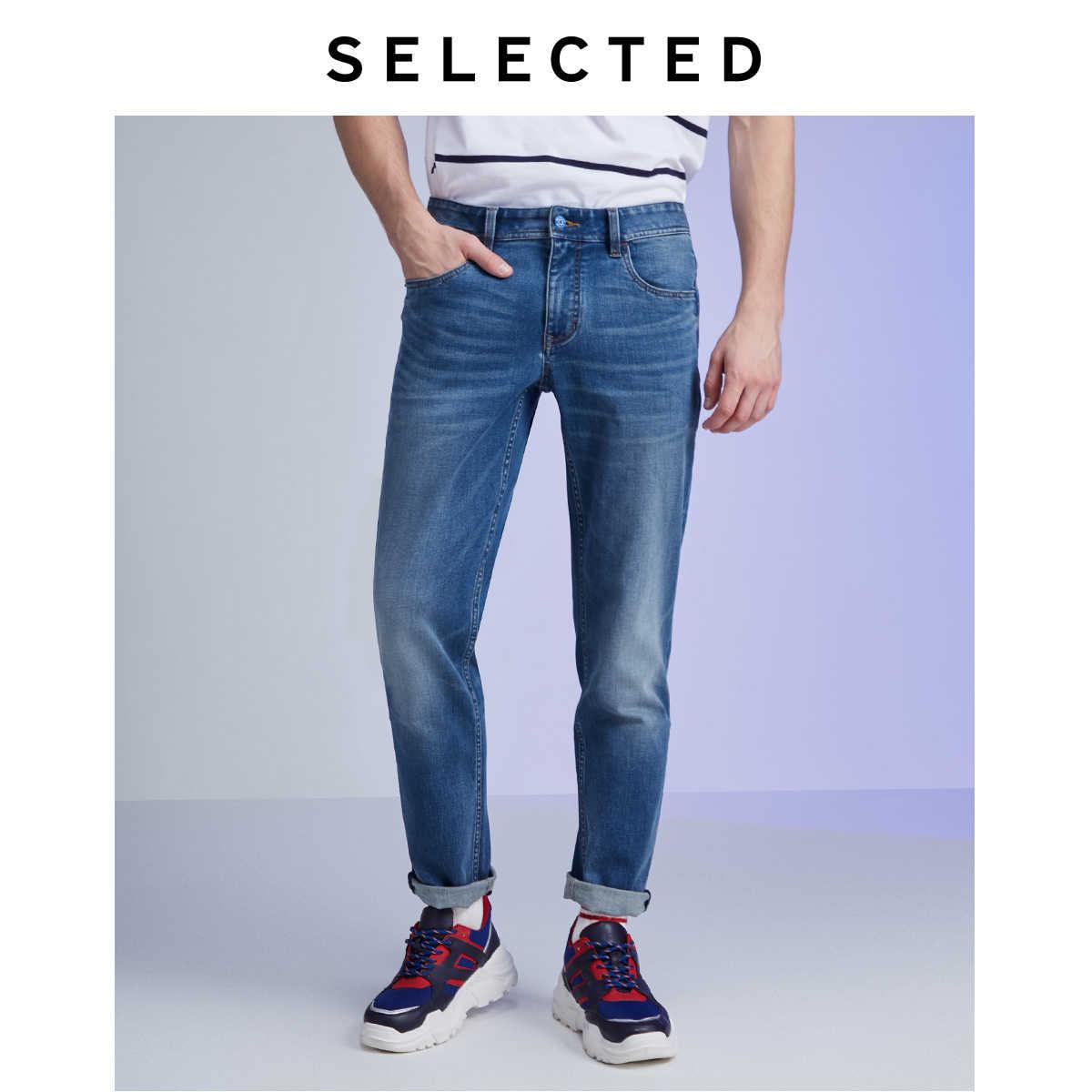 Geselecteerd Mannen Slim Fit Denim Broek Stretch-Katoen Blend Slim Fit Jeans Lab   419432523