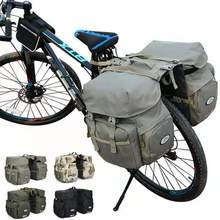 50L Bike Pannier Bag Waterproof Bicycle Racks Double Seat Carriers With free Rain Cover