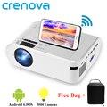 Мини-проектор CRENOVA M01 (опционально Android 6,0 M01C), 3000 люмен, для проектора телефона, поддержка 1080P Full HD 3D, светодиодный проектор
