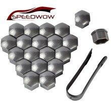 Speedwow tampa da cabeça do parafuso da roda, cobertura de cabeça do parafuso da roda, tampa da cabeça do parafuso, 20 peças 17mm parafusos de parafuso da roda de pneu