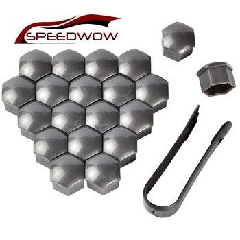 SPEEDWOW 20 piezas 17mm tuerca de la rueda perno de la cabeza tapa de la tuerca de la rueda pernos de tornillo de la rueda