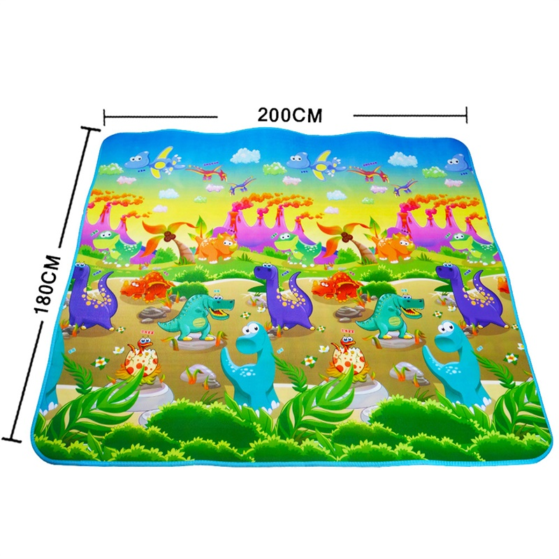Baby Play Mat 0.5cm Thick Crawling Mat Double Surface Baby Carpet Rug Animal Car+Dinosaur Developing Mat for Children Game Pad | Happy Baby Mama