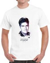 Camiseta masculina o lendário charlie sheen e suas citações t camisa tshirt feminino t camisa