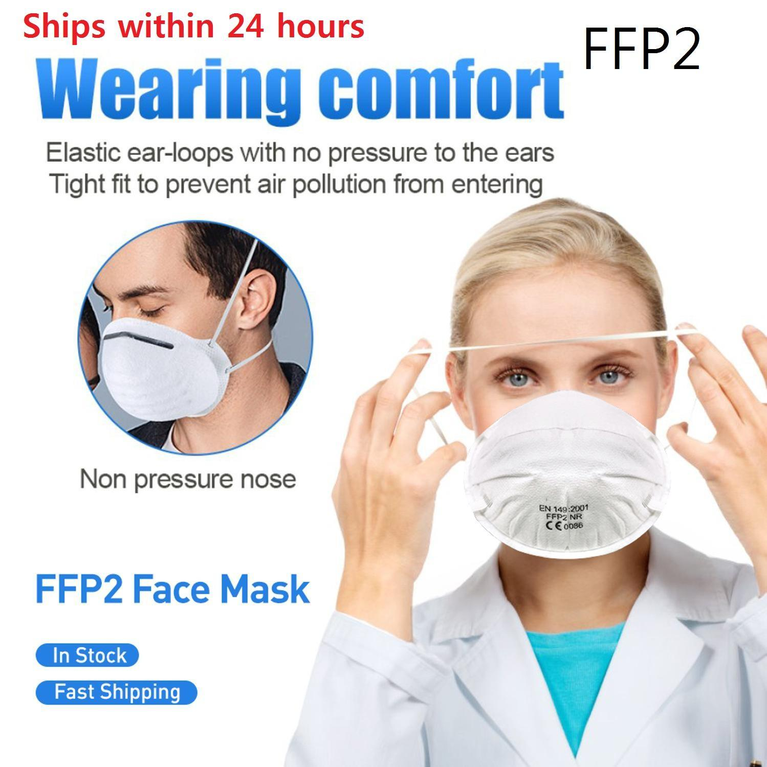 Europe FFP2 Masks Mouth Face Gas Mask Corona Masks 95% Against Flu Influenza PM2.5 Prevention Filtration