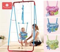 bloomingflower baby bouncing chair baby child jump chair fitness frame swing indoor trampoline chair toy for child gift
