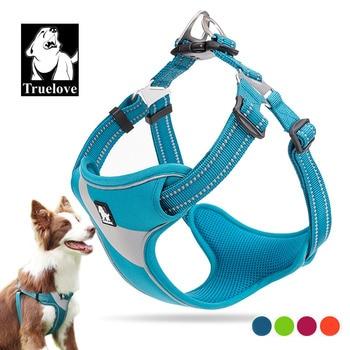 Truelove Adjustable Easy on Dog Pet harness Outdoor Adventure Reflective Halter Protective Nylon Walking Harness Vest