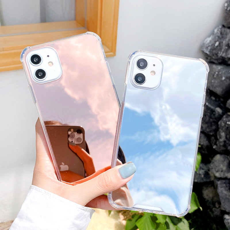 Luxury Clear Makeup Mirror Back Cover Soft Case For iPhone 11 Pro X XS Max XR 8 7 6S Plus SE 2020 Silicone Shockproof Phone Case