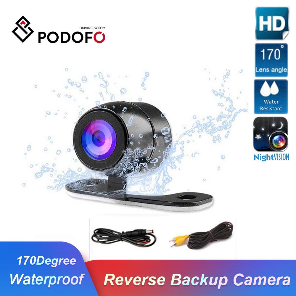 Podofo Auto Rückansicht Parkplatz Kamera HD Farbe Rück Kamera Auto Park Monitor 170 Grad CCD Wasserdichte Auto Reverse Backup kamera