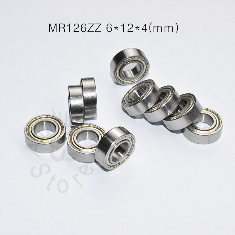 MR126ZZ 6*12*4(mm) 10pieces Bearing ABEC-5  Metal Sealed Miniature Bearing Free Shipping MR126 MR126ZZ Chrome Steel  Bearings