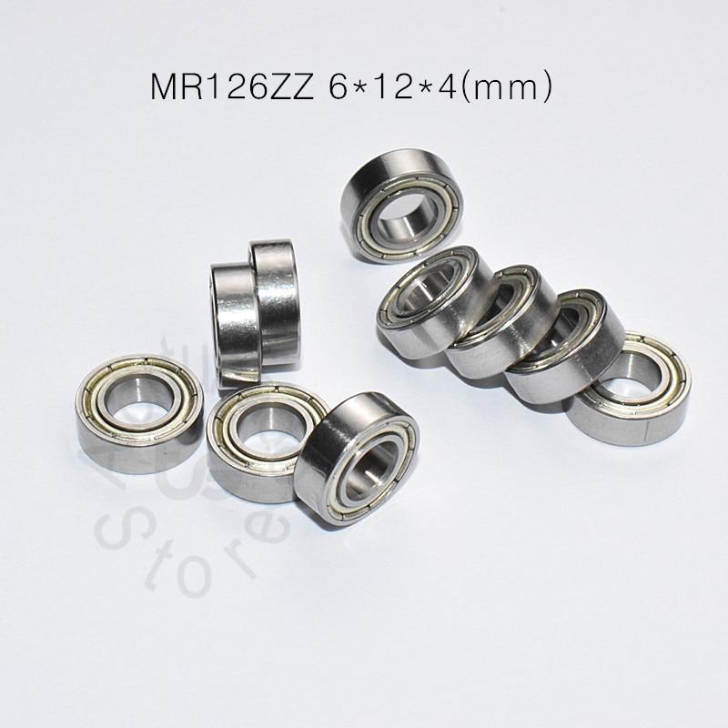 MR126ZZ 6*12*4(mm) 10pieces Bearing ABEC-5  Metal Sealed Miniature Bearing Free Shipping MR126 MR126ZZ Chrome Steel  Bearings
