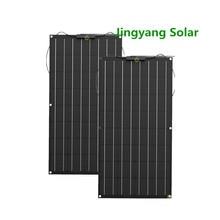 200W 300W 400W etfe 유연한 태양 전지 패널 2PCS 3PCS 4PCS 100W 패널 태양 Monocrystalline 태양 전지 12V 태양 열 충전기