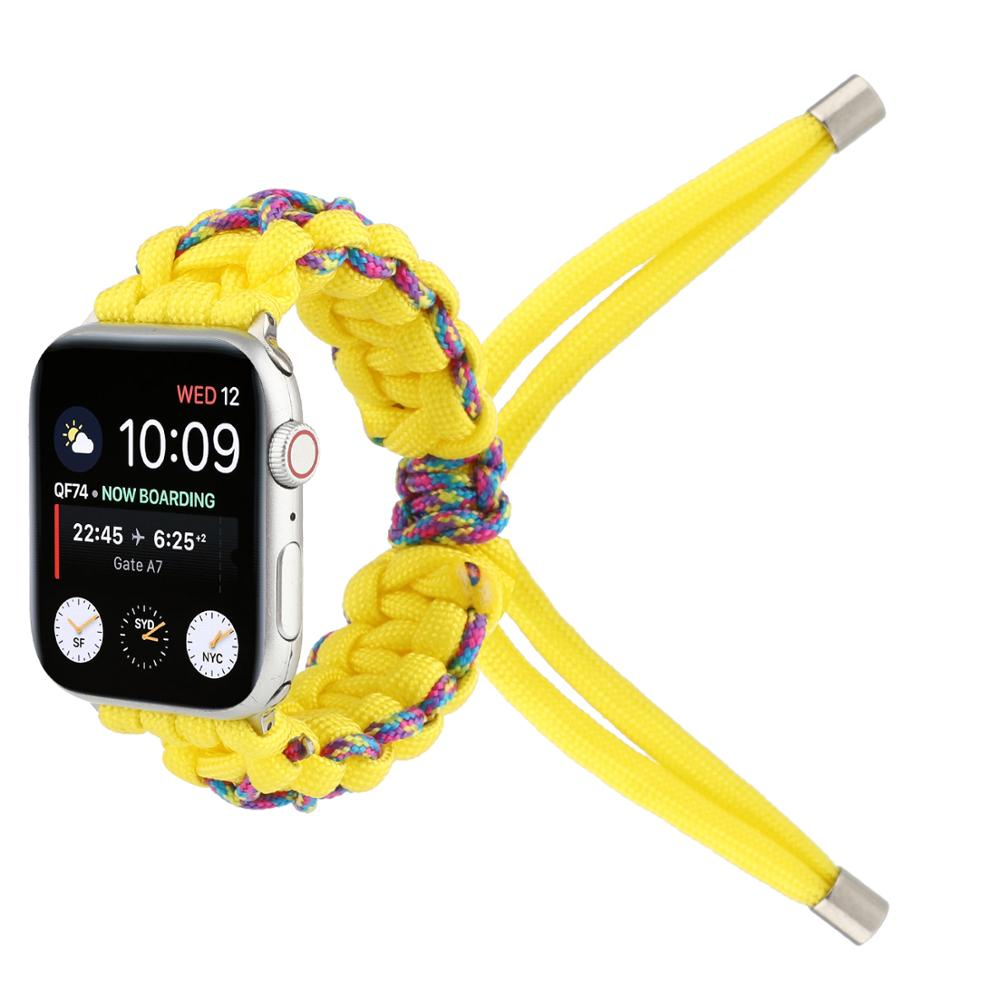 Handmade Braided Rope Jewellery Bracelet For Apple Watch Band 38mm 40mm 42mm 44mm Apple iWatch Strap Series 1 2 3 4 5 Watchbands